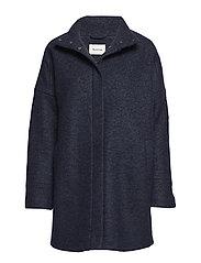 Bonnie coat - NAVY SKY