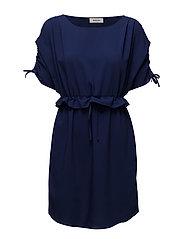 Carmen dress - RICH BLUE