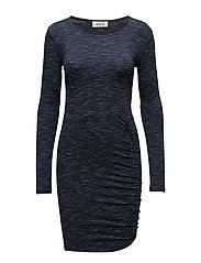 Tania speckle dress - NAVY SKY