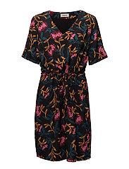 Donald print dress - FALL FLOWER