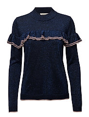Fallon o-neck - NAVY SKY/FROSTY ROSE
