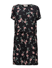 Tassel print dress - BLACK BLOOM