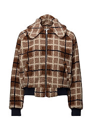 Hilery jacket - BROWN SUGAR CHECK