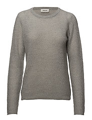 Jodie o-neck - GREY MELANGE