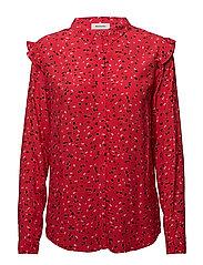 Jemma print shirt - CAMARA APPLE RED