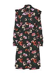 Julie long print dress - WILD FLOWER
