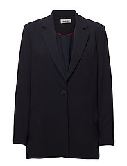 Janelle blazer - NAVY/RED STRIPE