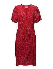 Jemma print dress - CAMARA APPLE RED