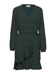 Jerkins print wrap dress - GRAPHIC SHADOW