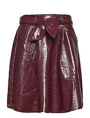 Jana shiny skirt - DARK CHERRY