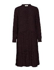 Kola print dress - FIRE DOT