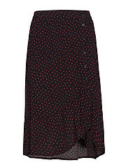 Kola print skirt - FIRE DOT
