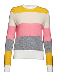 Marley stripe o-neck - BLOCK STRIPE
