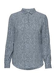 Magnolia print shirt - SCATTER DREAM CORNFLOWER