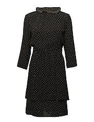 Tivoli print dress - BLACK DOT
