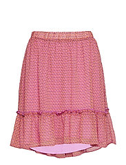 Rachel print skirt - BLAZING GRID