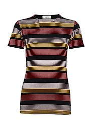 Ross stripe t-shirt - FIRE STRIPE