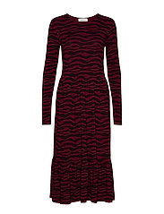 Sitter print dress - ZEBRA LINES
