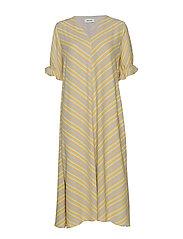Clementine print dress - FADED STRIPE