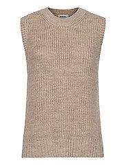 Timme vest - BEIGE MELANGE