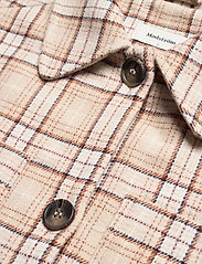 Modström - Ikaia coatigan - overshirts - cream brown check - 2