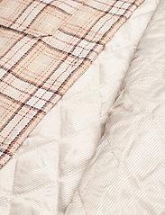 Modström - Ikaia coatigan - overshirts - cream brown check - 4