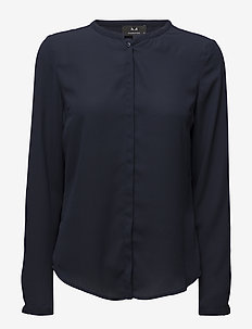 Cyler shirt - langärmlige blusen - navy night