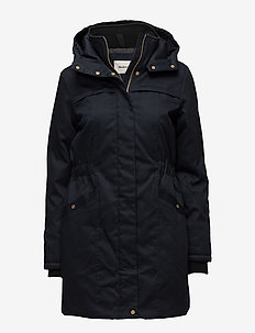 Frida gold trim - parka coats - navy noir