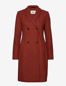 Odelia coat - BRICK RED