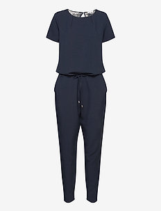 Campell lace jumpsuit - kombinezony - navy sky