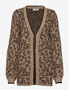 Shirley cardigan - BROWN LEO