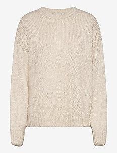 Valentia o-neck - tröjor - off white