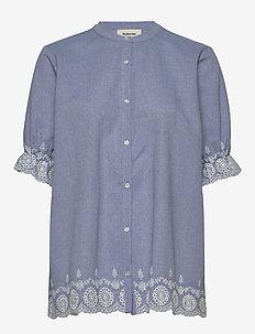 Craig shirt - lyhythihaiset paidat - zen blue