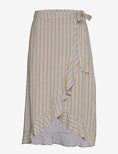 Charlotte print skirt - spódnice do kolan i midi - zen blue stripe