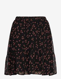 Erica print skirt - korte nederdele - forest flower