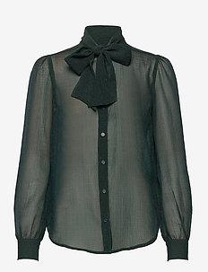 Fernanda shirt - långärmade toppar - empire green