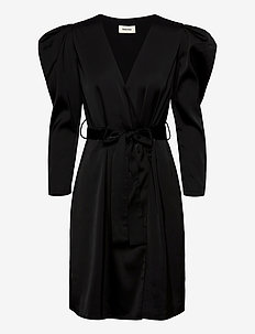 Fabia dress - slå-om-kjoler - black