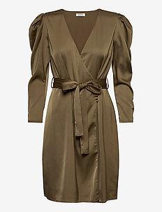 Fabia dress - omlottklänning - bronze