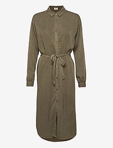 Evelyn dress - skjortekjoler - light khaki