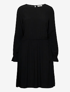 Esther dress - midiklänningar - black