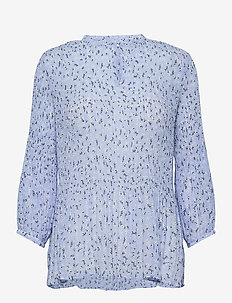 Eva print top - dreamy blue