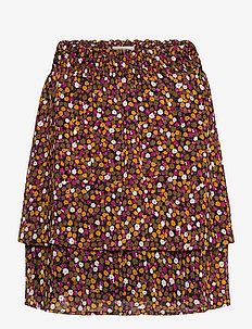 Gryffin print skirt - midi nederdele - fall flower