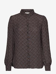 Gekko print shirt - langærmede bluser - rose check