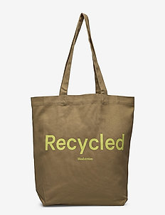 Gace recycled tote - tote bags - light khaki
