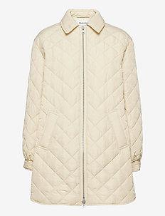 Heva jacket - padded coats - cream milk
