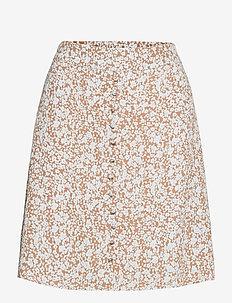 Isa print skirt - korte nederdele - bluebell