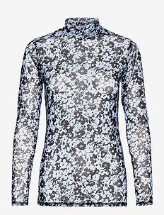 Hamish print top - tops met lange mouwen - buttercup blue