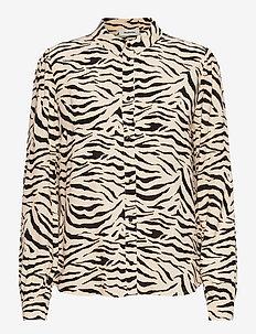 Ibu print shirt - langærmede bluser - zebra
