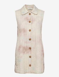 Luella print vest - puffer vests - sage tie dye