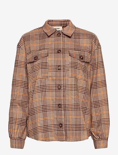 Jingle shirt - long-sleeved shirts - camel check